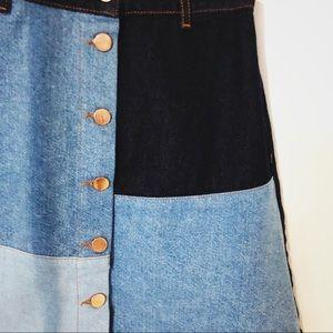 Dresses & Skirts - Patchwork denim skirt
